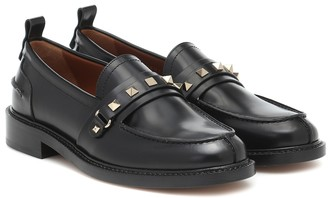 Valentino Rockstud leather loafers
