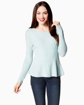 Charming charlie Winter Bliss Peplum Sweater
