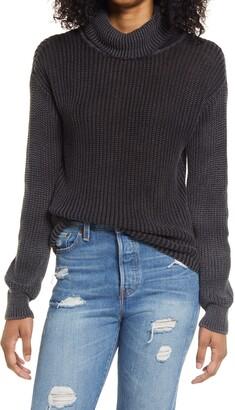 Ten Sixty Sherman Washed Mock Neck Sweater