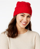 Charter Club Cable Cashmere Cuff Hat, Only at Macy's