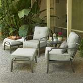 Oasis Tunney 5 Piece Multiple Chairs Seating Group with Sunbrella Cushions Charlton Home Cushion Color: Cast