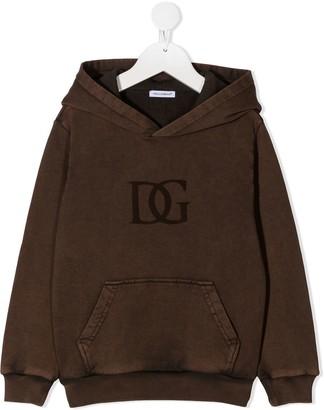 Dolce & Gabbana Kids logo DG hoodie