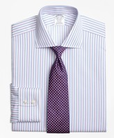 Brooks Brothers Regent Fitted Dress Shirt, Non-Iron Alternating Twin Stripe
