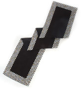 Mackenzie Childs MacKenzie-Childs Courtly Check Black Table Runner