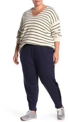 Eileen Fisher Velvet Trim Track Pants (Plus Size)
