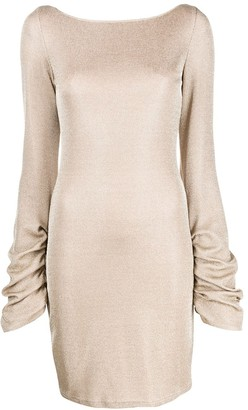 Just Cavalli Draped Chain-Trim Dress