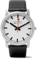 Mondaine Simply Elegant Stainless Steel And Leather Watch - White