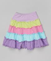 Mulberribush Light Purple Tiered Skirt - Infant