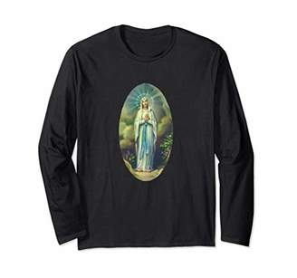 Virgin Mary of Lourdes T-Shirt Our Lady Christian Gift Tee