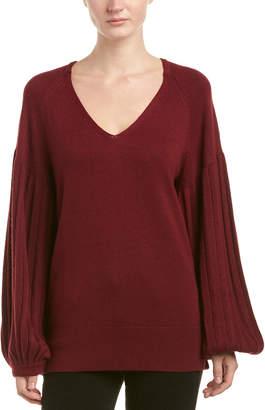 Ella Moss Blouson Sleeve Wool-Blend Sweater