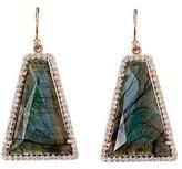Irene Neuwirth Trapezoid Labradorite Earrings with Diamonds - Rose Gold