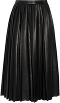 By Malene Birger Asla pleated faux leather skirt