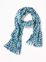 Old Navy Patterned Performance Fleece Scarf for Girls