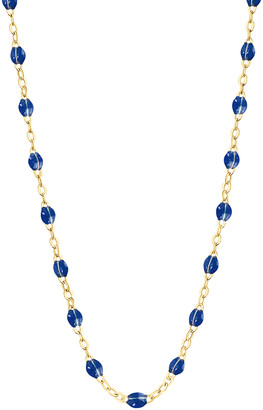 Lapis 16 Inch Classic Gigi Resin Necklace - Yellow Gold