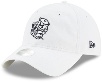 New Era Women's White Michigan Wolverines Throwback Logo Core Classic 9TWENTY Adjustable Hat