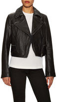 Proenza Schouler Leather Cropped Fitted Moto Jacket