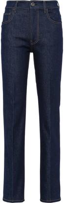 Prada High-Rise Five-Pocket Jeans