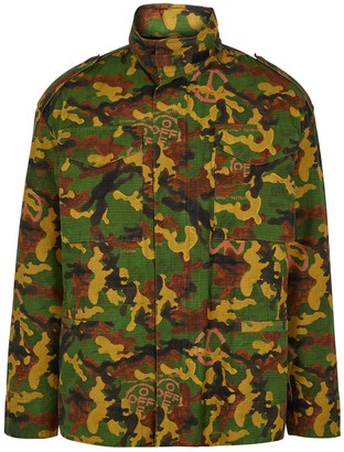 Off-White Camouflage printed cotton jacket