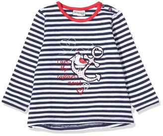 Salt&Pepper Salt and Pepper Baby Girls' Gestreift mit Anker Stickerei Longsleeve T-Shirt