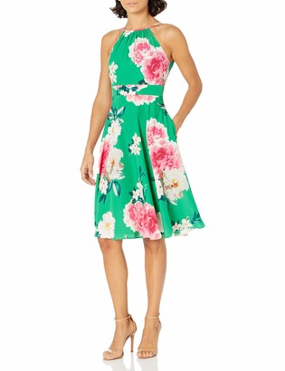 Eliza J Women's Plus Size Sleeveless Halter MIDI Dress