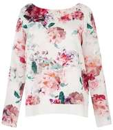 Wallis Ivory Floral Printed Top