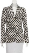 Schumacher Printed Notch-Lapel Blazer