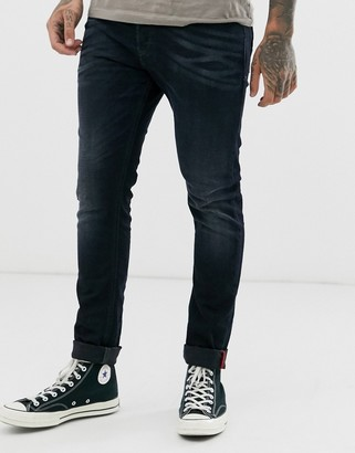 Diesel Tepphar-X slim carrot fit jeans in 0679R dark wash