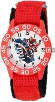 Marvel Boy's 'Civil War' Quartz Plastic and Nylon Automatic Watch, Color: (Model: W003124)