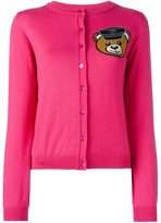 Moschino biker teddy bear cardigan - women - Virgin Wool - 42
