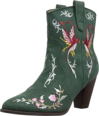 Penny Loves Kenny Women's SHA Fashion Boot Green Microsuede 12 Medium US