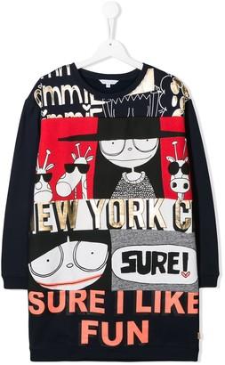 Little Marc Jacobs TEEN Sure I Like Fun print sweat dress