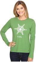 Life is Good Painted Simplify Snowflake Long Sleeve Crusher Tee