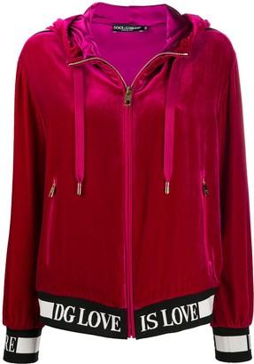 Dolce & Gabbana Logo Detail Zipped Hoodie