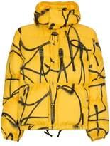 Adaptation saber graffiti puffer jacket