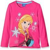 Disney Girl's Frozen Elsa Anna Olaf T-Shirt