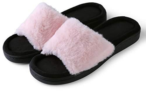 Aerusi Women's Loulu Fluffy Slide Slipper