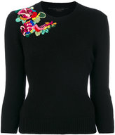Ermanno Scervino embroidered detail jumper - women - Cashmere/Virgin Wool - 40