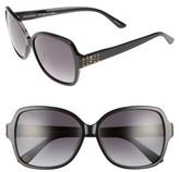 Juicy Couture Women's Black Label 57Mm Square Sunglasses - Black