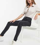 Weekday Thursday organic cotton high waist skinny jeans in black