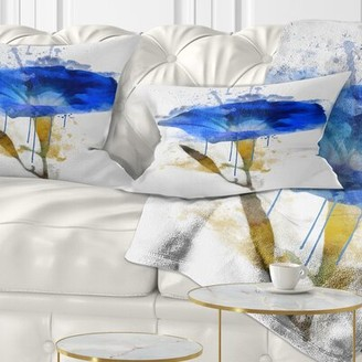 Alpina Floral Gentiana Watercolor Lumbar Pillow East Urban Home