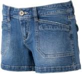 UNIONBAY Juniors' Delaney Stretch Twill Midi Shorts