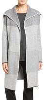 Nordstrom Mixed Rib Cashmere Open Front Cardigan