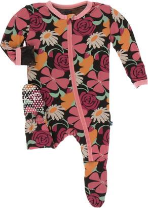 Kickee Pants Floral Print Footie