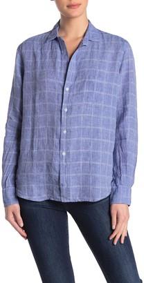 Frank And Eileen Eileen Check Printed Linen Blend Shirt