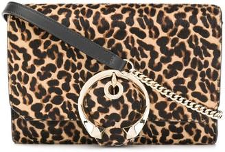 Jimmy Choo leopard print Madeline mini cross body bag
