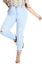 City Chic Plus Size Women's Ice Queen Crop Skinny Jeans