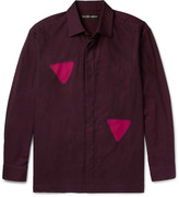 Issey Miyake Men - Itajine Printed Brushed Cotton-twill Shirt
