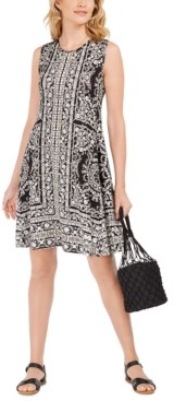 Style&Co. Style & Co Sleeveless Printed Swing Dress, Created for Macy's