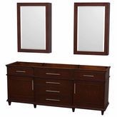WYNDHAM COLLECTION Wyndham Collection Berkeley 80 inch Double Bathroom Vanity