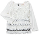 Baby Sara Infant Girls) Drop Waist Peplum Fringe Dress